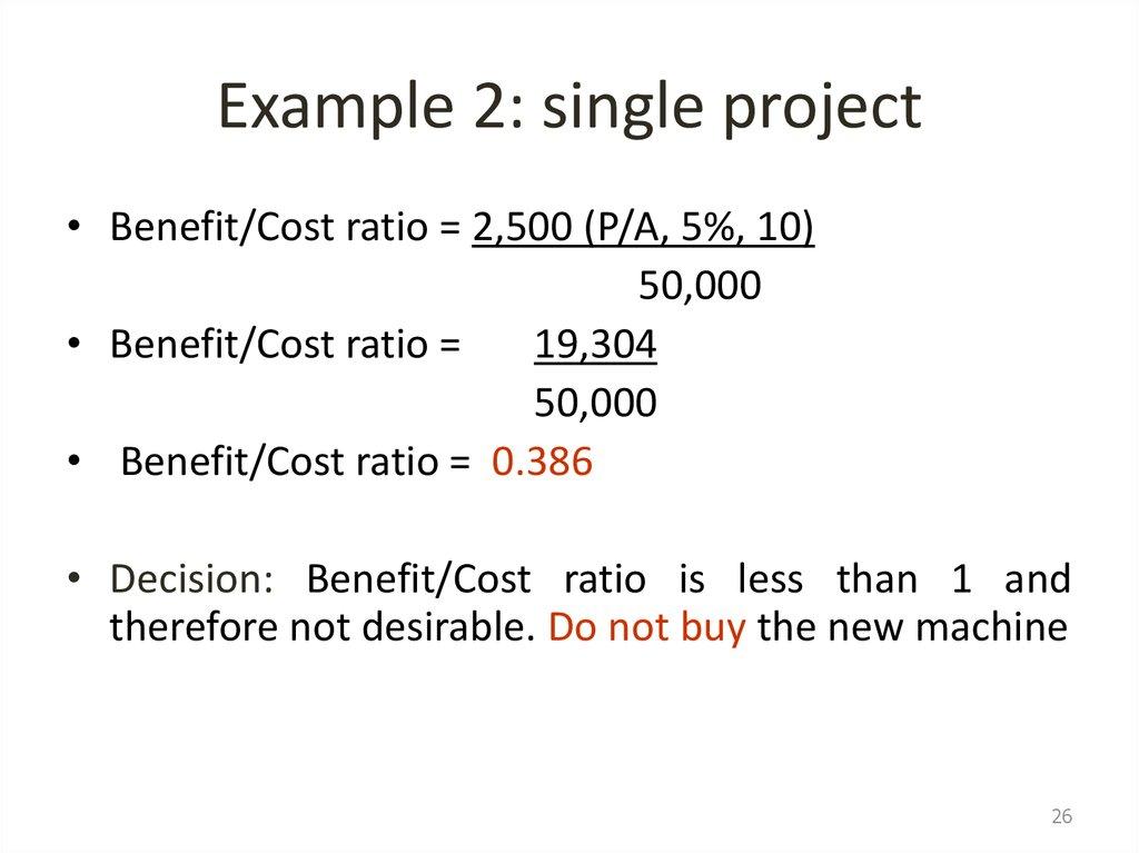 Public Sector Benefit Cost Ratio Analysis презентация