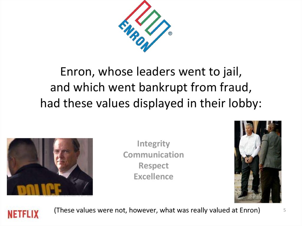Core Values: Enron