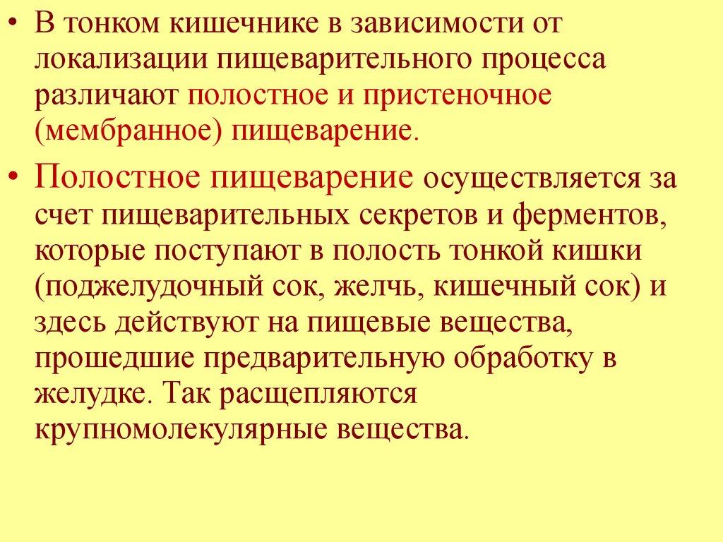 Сок Тонкой Кишки
