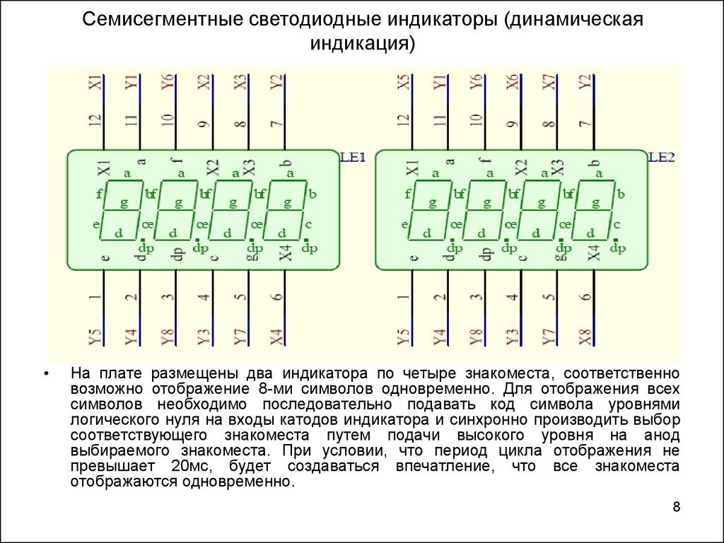 индикаторы семисегментные схема