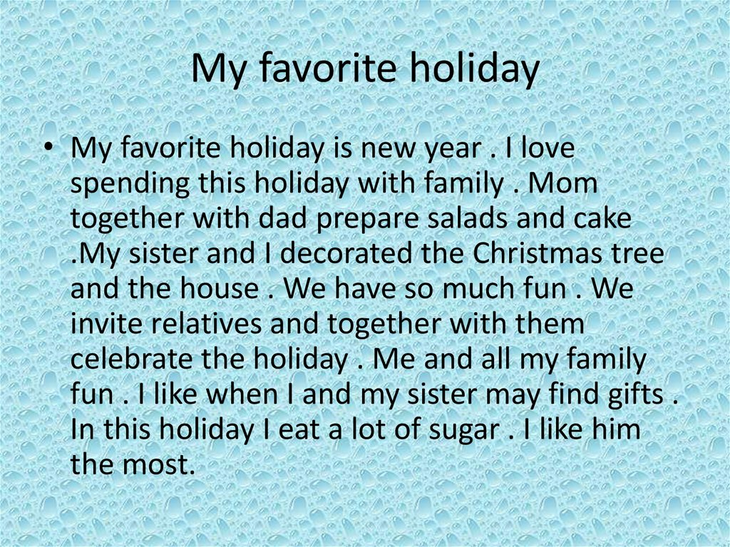my favorite christmas memory essay Christmas memories essays some families have their own unique way of celebrating those special moments with the ones they love my most cherished memory as a child.