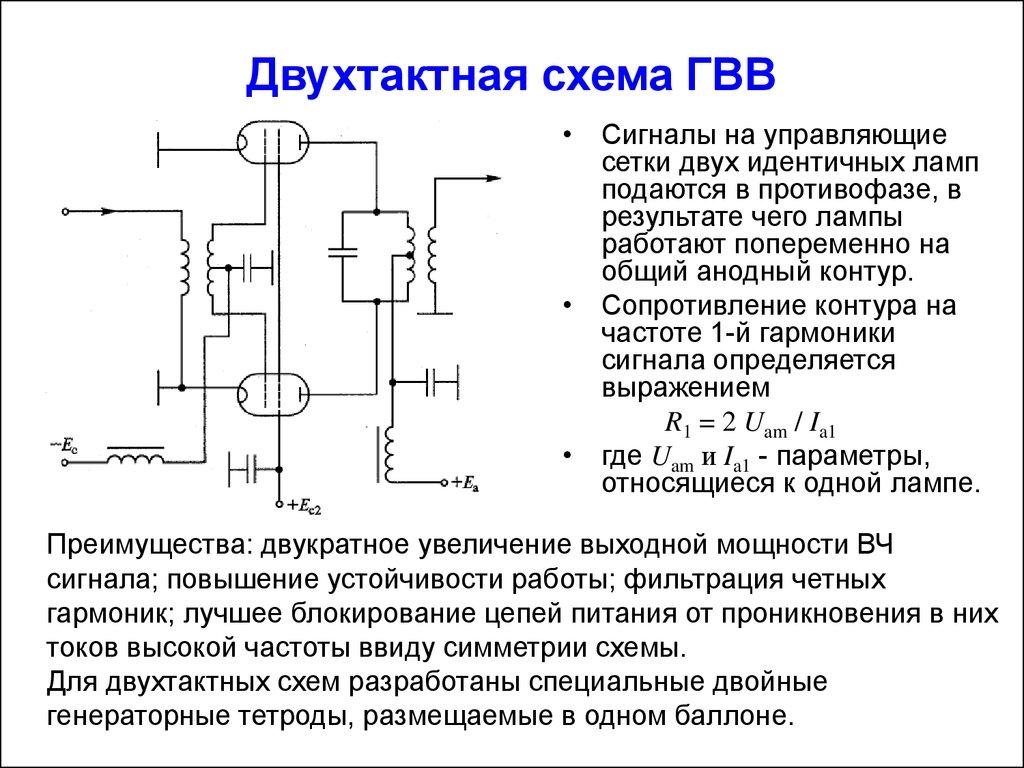 Двухтактная схема или однотактная схема