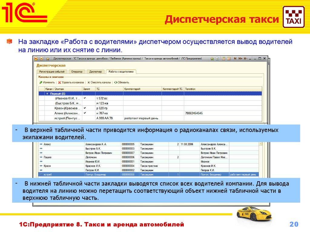 бланк информации о водителе в салоне автомобиля такси