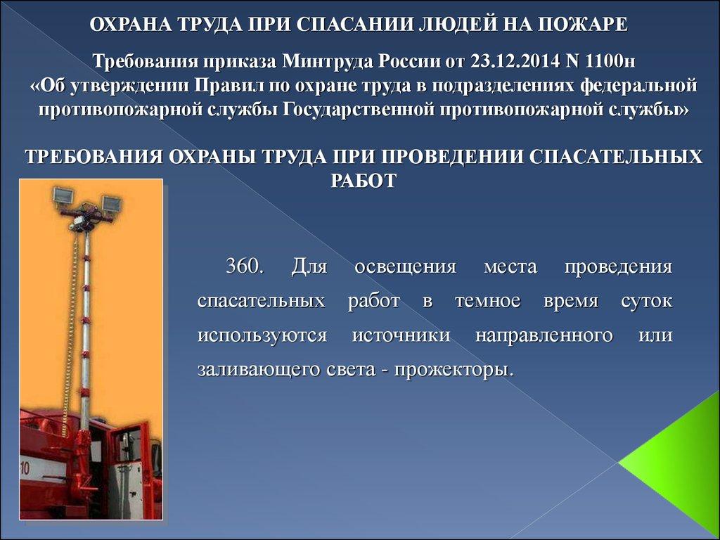 """Приказ минтруда рф от 23. 12. 2014 n 1100н """"об утверждении правил по."""