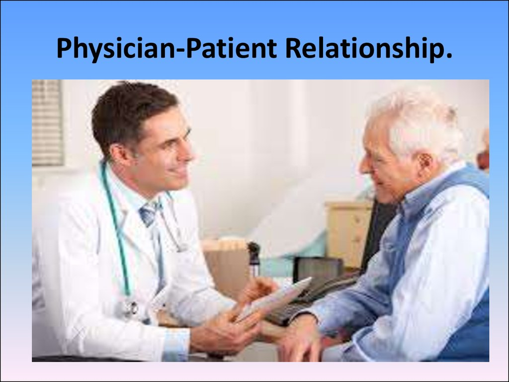 patient physician relationship powerpoint presentation