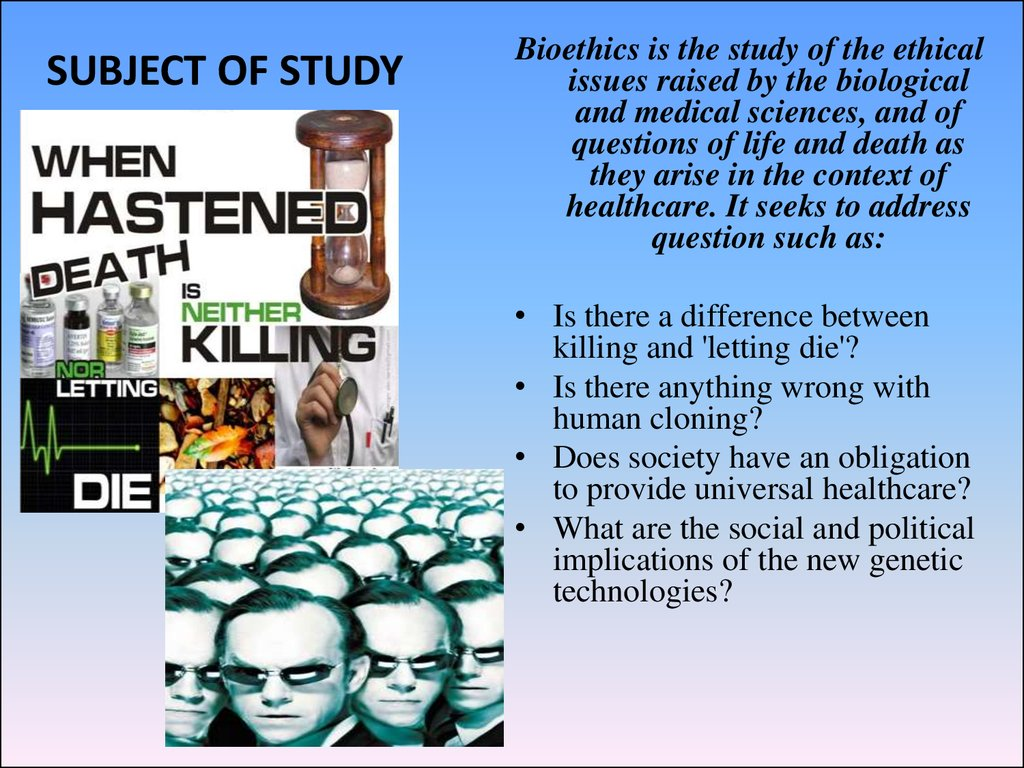 a critique of the bioethical issues This reflection results in an internal document, a position paper, that provides a review of a specific bioethics issue  current medical research and opinion.