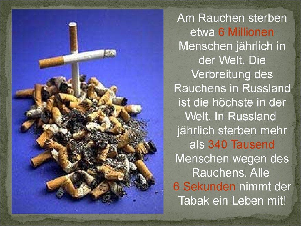 Hat Rauchen aufgegeben was sich verbessern wird