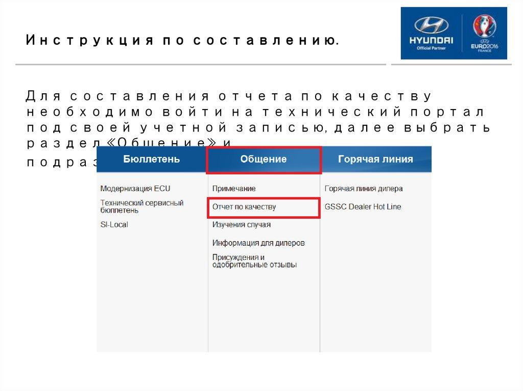 Дилерские отчеты по качеству Концепция и инструкция по