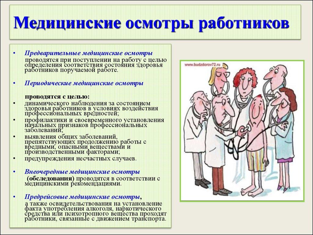 Сценарий медицинского осмотра
