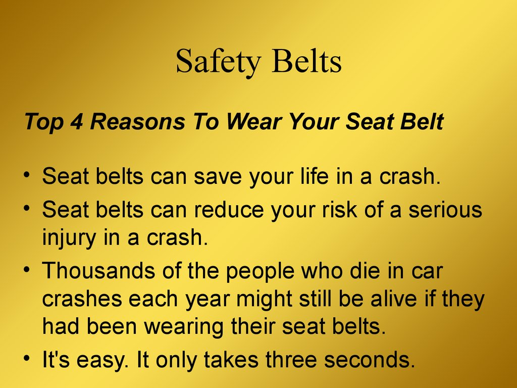 why wear a seatbelt Department of transportation data show 22 percent of backseat passengers do  who refused to wear seat belt  it's hard to explain why people.