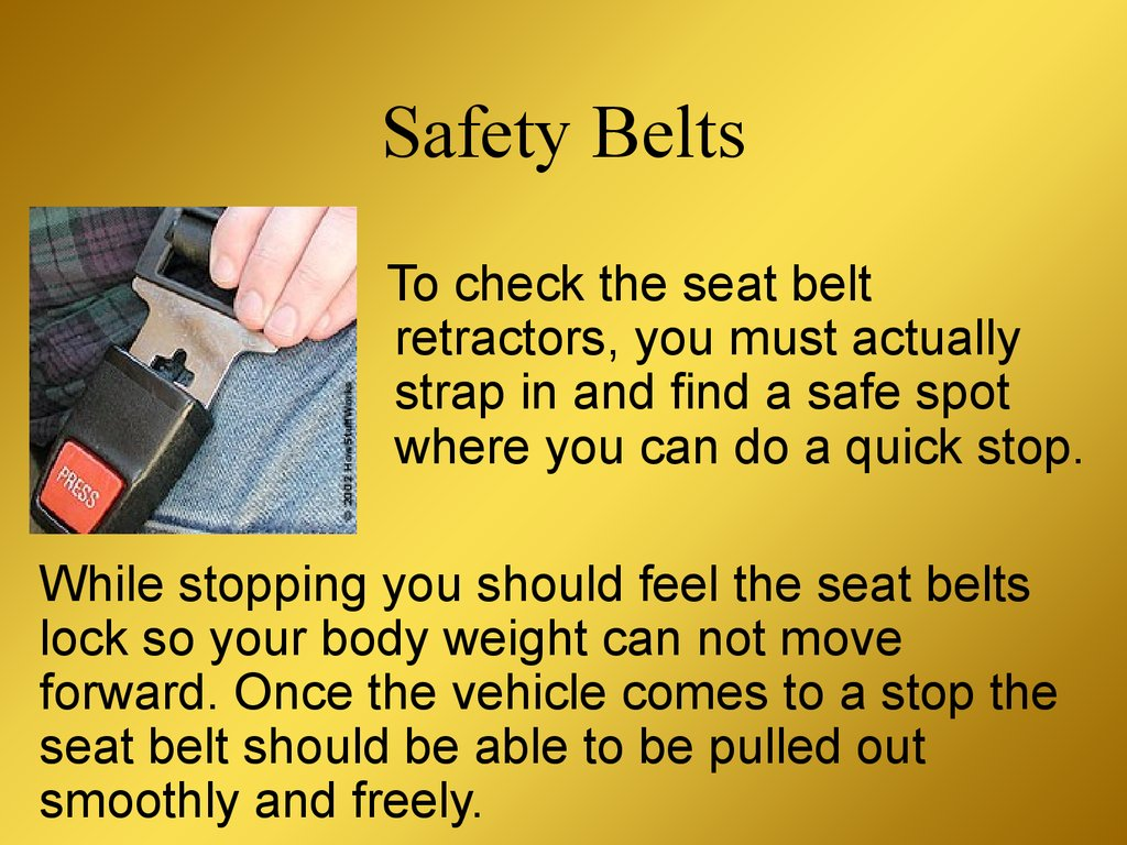 safety why seatbelts should be worn Learn why wearing a seat belt properly is as important as putting it on for   according to the national highway traffic safety administration.