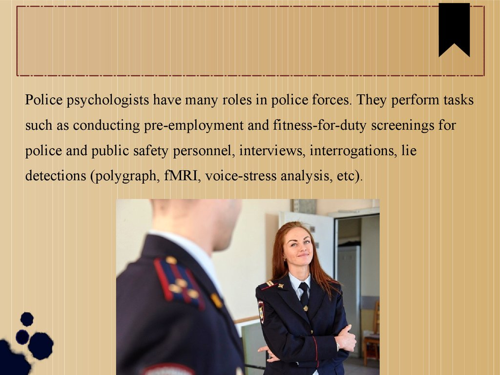 Police Psychology: Reproducibility