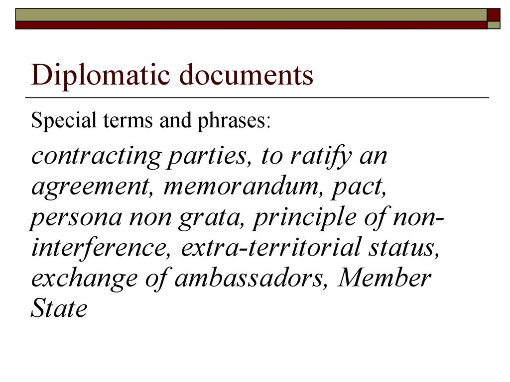 Diplomatic documents