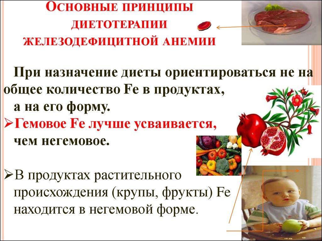 Лечебная диета при анемии