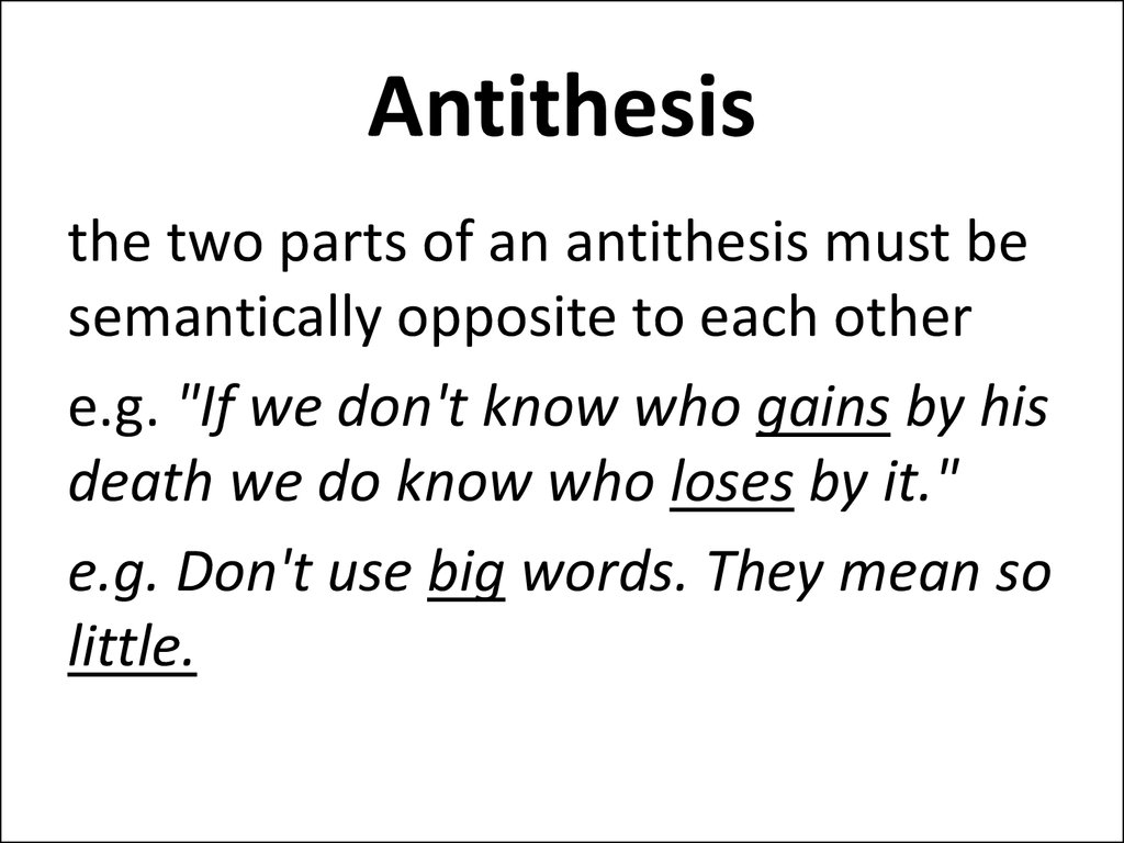 define antithesis in speech Antithesis - wordreference english dictionary, questions, discussion and forums all free.