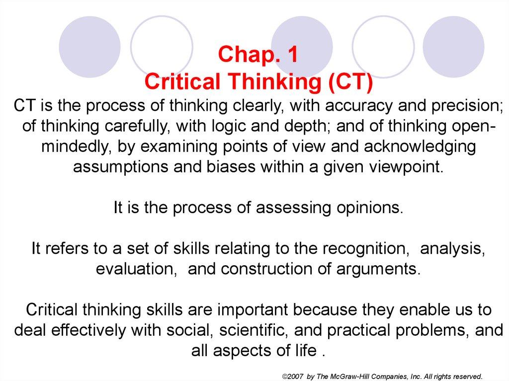 Assumptions Critical Thinking