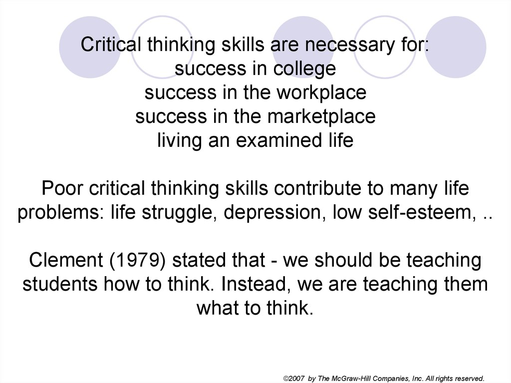 critical thinking is important because