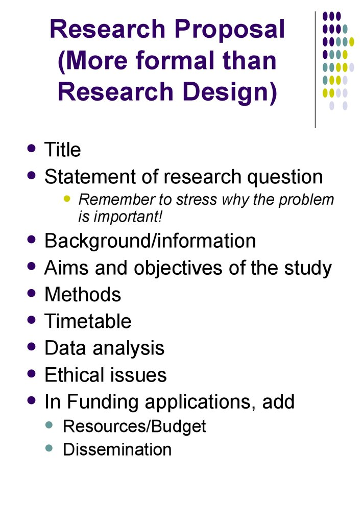 Conceptualizing writing and revising a social science research proposal