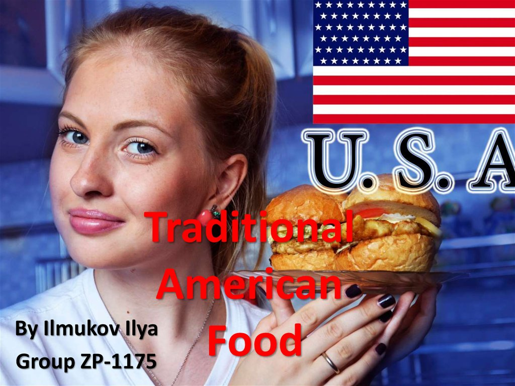Traditional american food online presentation for American cuisine presentation