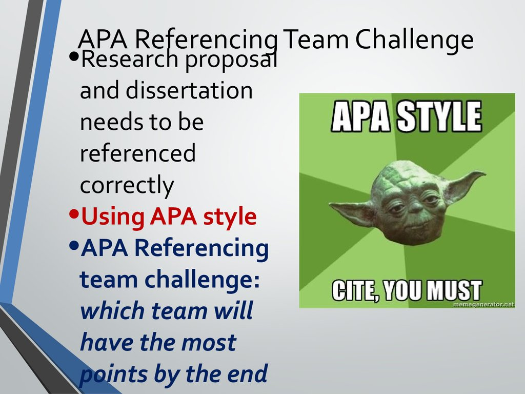 apa style for dissertations as references Apa referencing style guide  the 6th edition of the publication manual of the american psychological association each reference should include the.