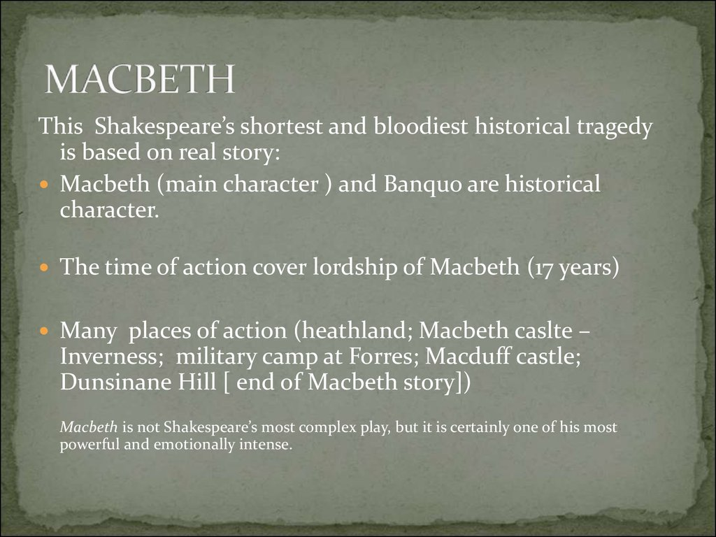 What is the moral of Macbeth and why did Shakespeare write the play?