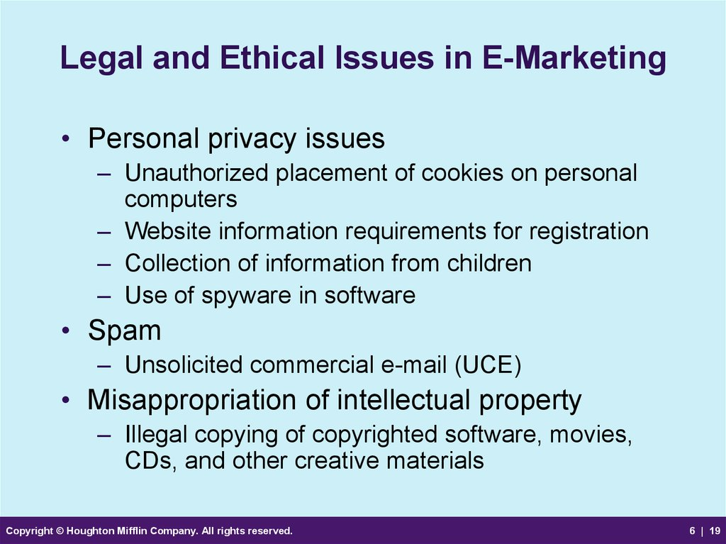 International leagal and ethical issues in