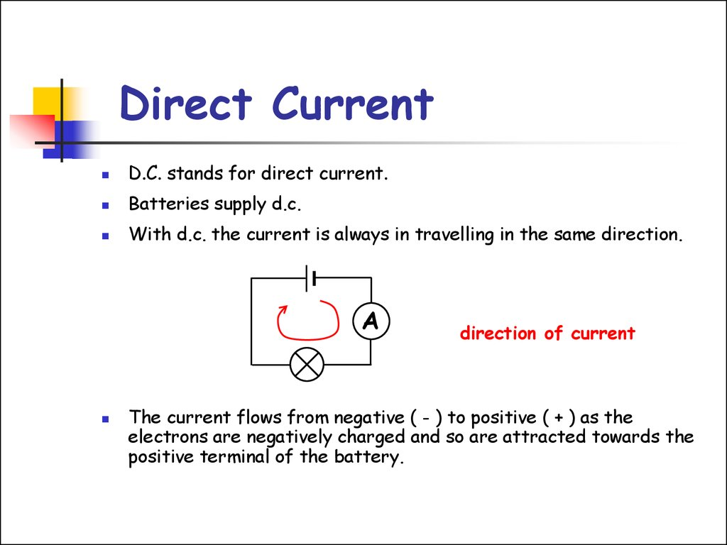 Direct current symbol