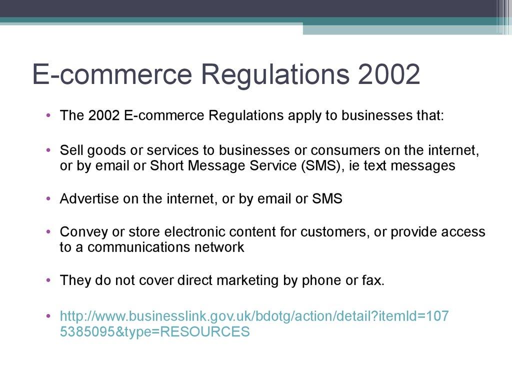 e commerceregs 2002