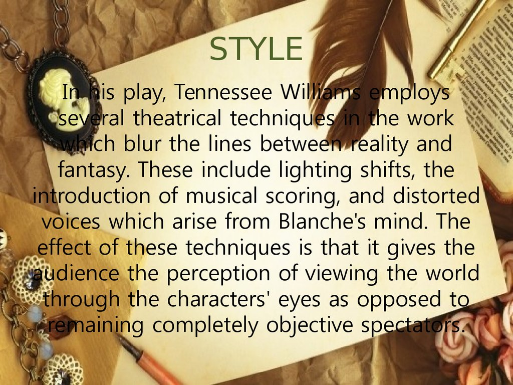 an introduction to the life and literature by tennessee williams Historical events in the life of tennessee williams 1944-12-26 tennessee williams' play glass menagerie premieres in chicago 1945-03-31 tennessee williams' glass.