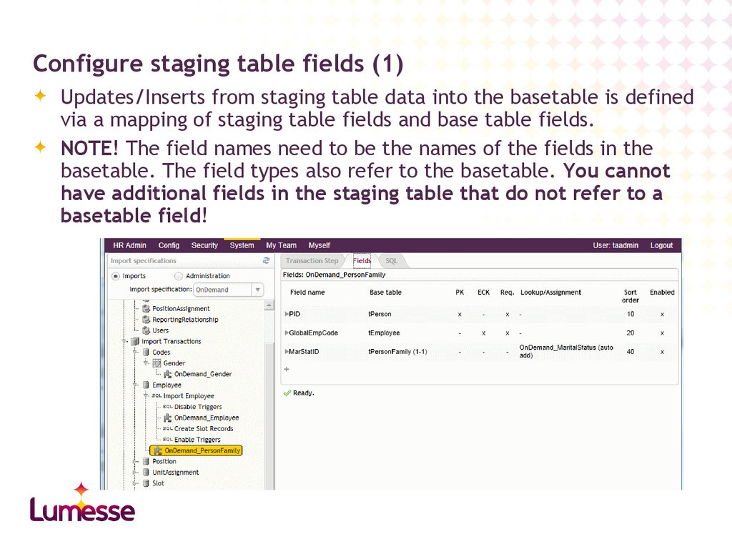 Configure staging table fields (1)