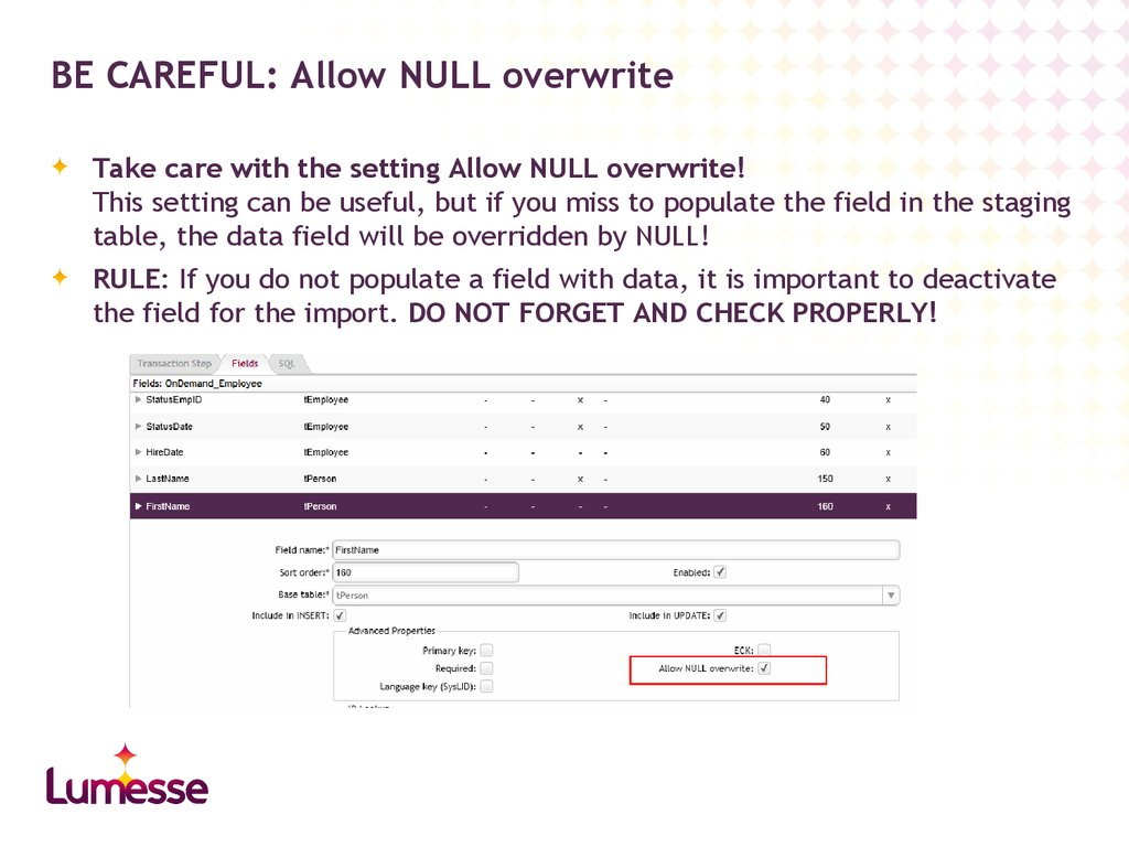 BE CAREFUL: Allow NULL overwrite