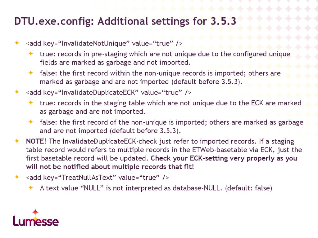 DTU.exe.config: Additional settings for 3.5.3