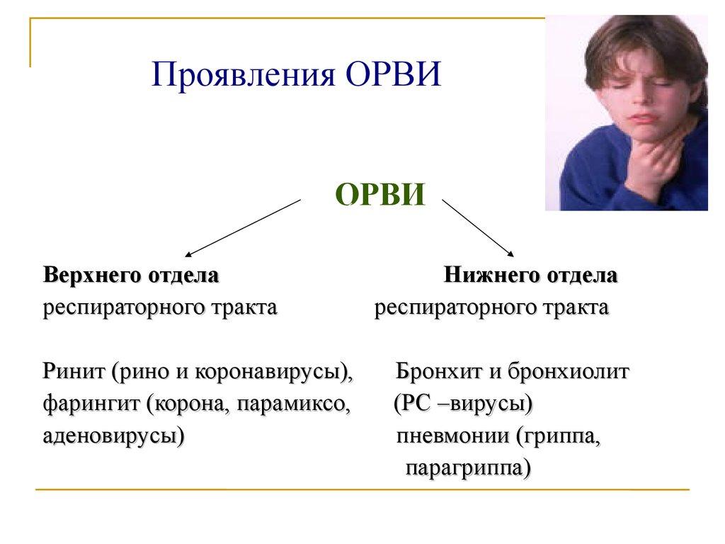 Характерные симптомы для ОРВИ