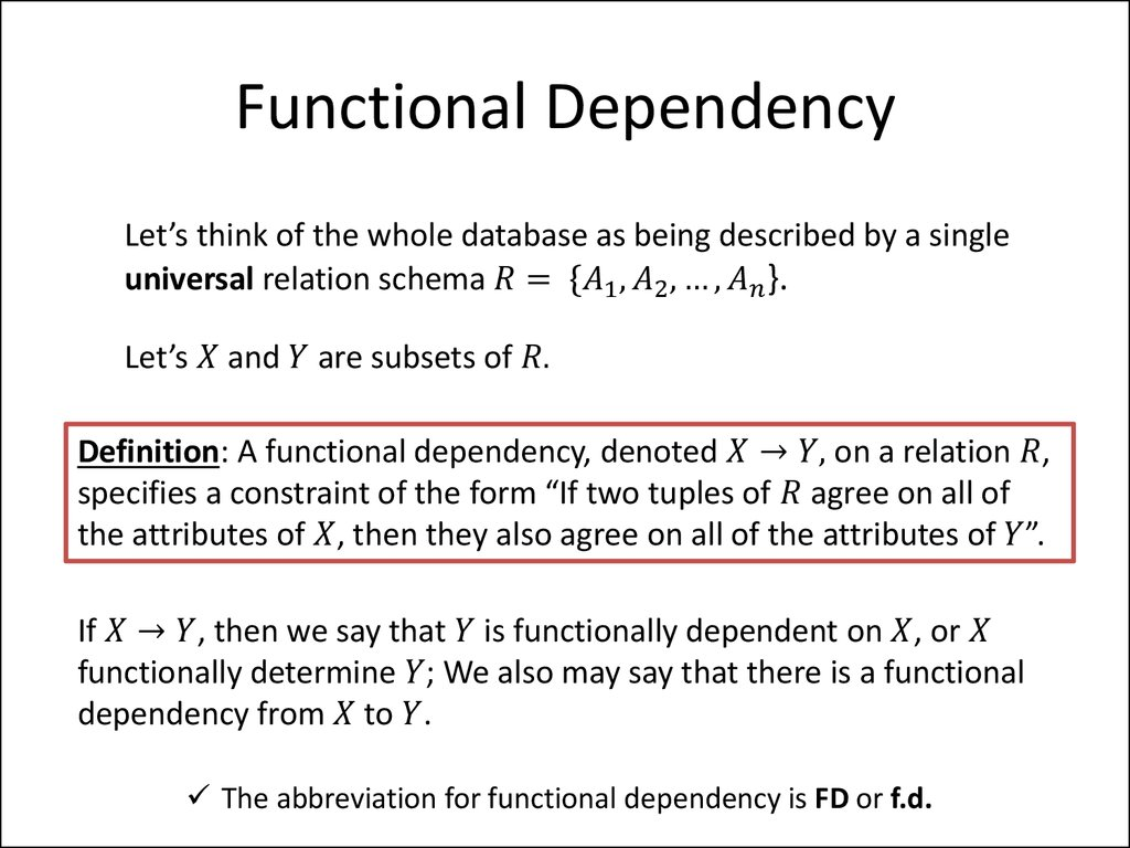 what is the definition of dependence
