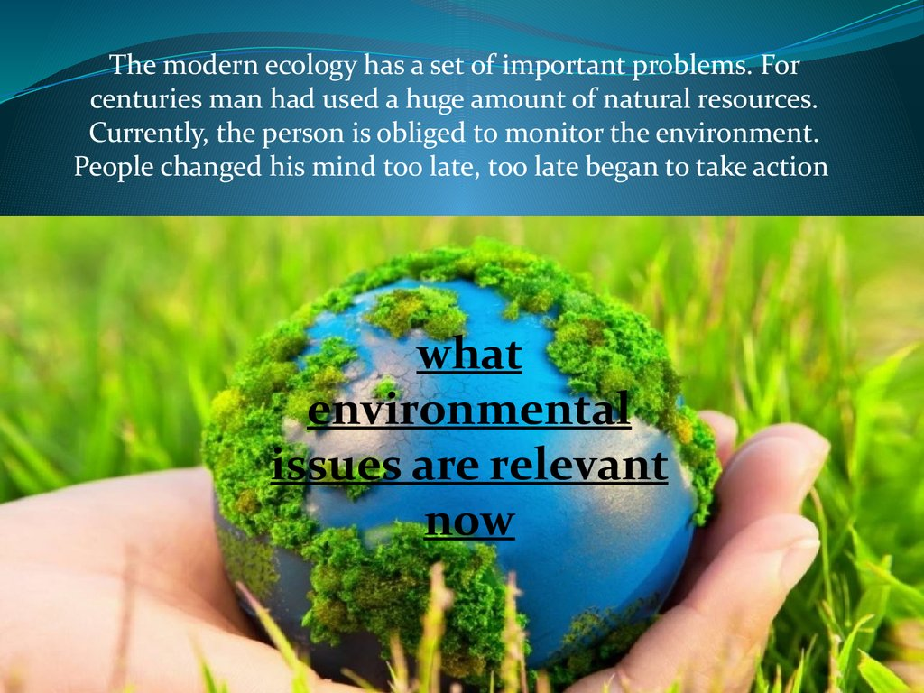 the issue of environmental pollution in the modern world Chapter 6 environmental pollution control measures while modern  pollution is more than just a health issue  environmental pollution essays environmental.