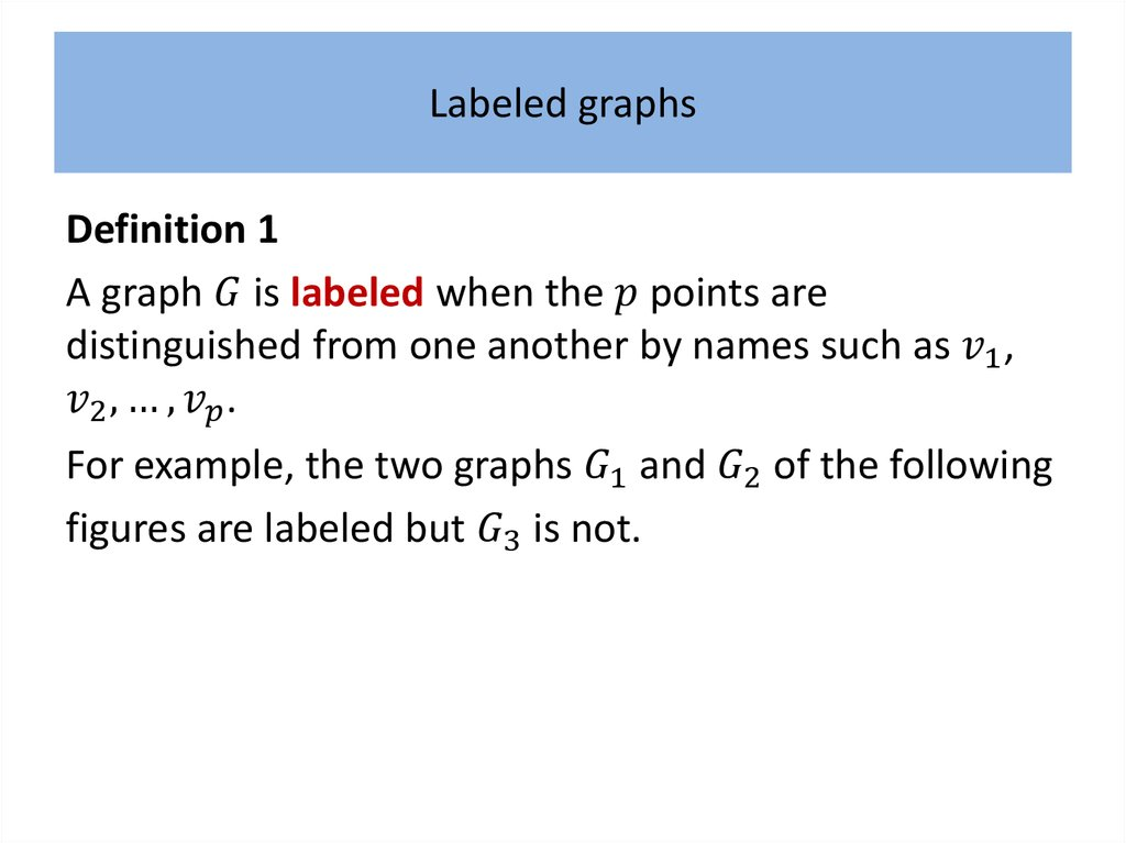 Labeled graphs