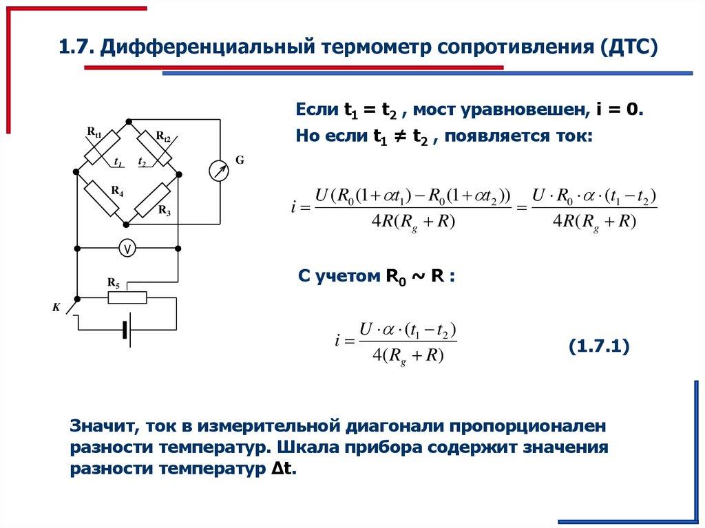 Схема температуры и сопротивления