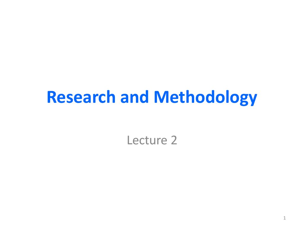 Research Methods - PowerPoint PPT Presentation