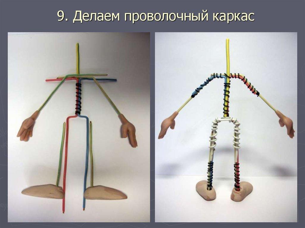 Как сделать куклу своими руками каркасную 58