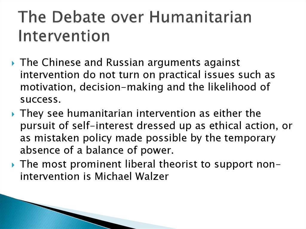 the debate on humanitarian intervention Conflicts and humanitarian intervention in africa: is the current debate about intervention for humanitarian purposes, as a result of proliferation of armed.