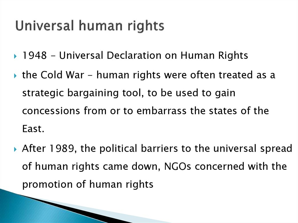 an introduction to the history of universal declaration of human rights The bill of rights and the universal declaration of human rights are two vital documents dedicated to the safety, security, and overall well-being of two very different groups of people.