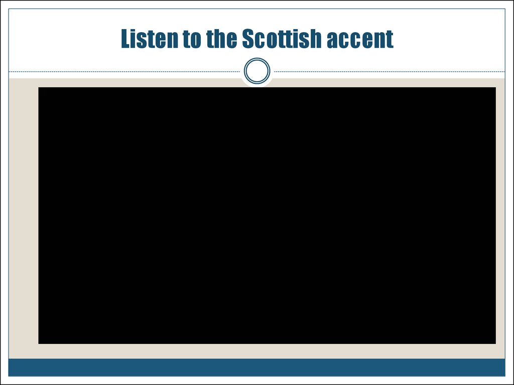 Listen to the Scottish accent