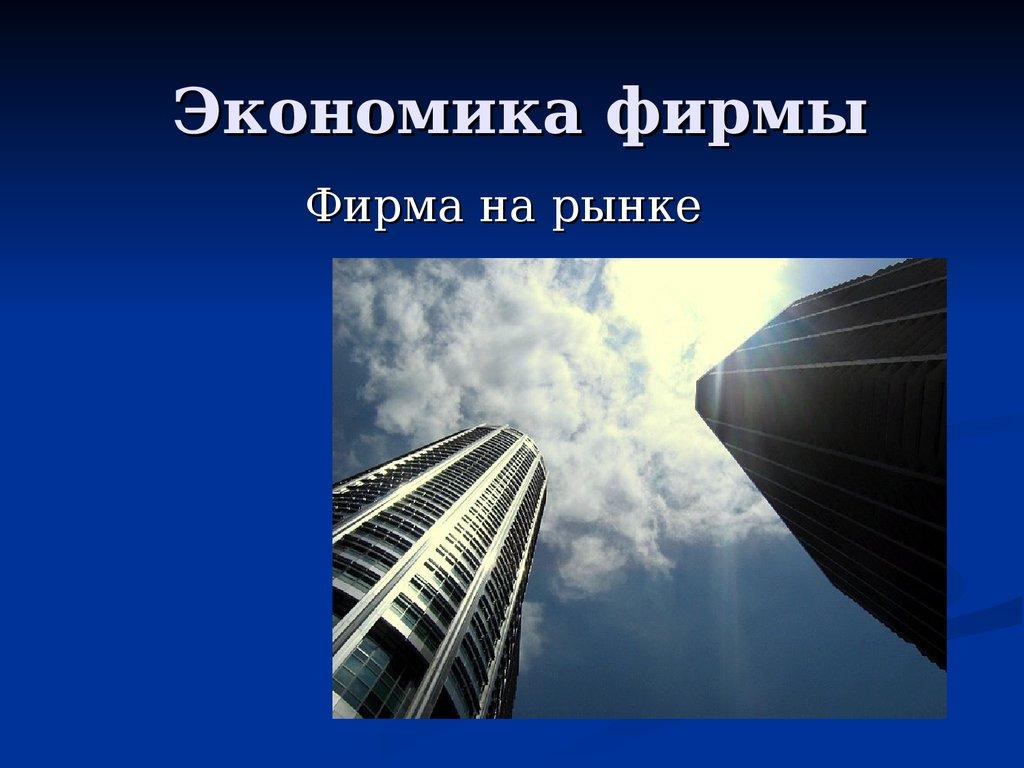 Экономика фирмы