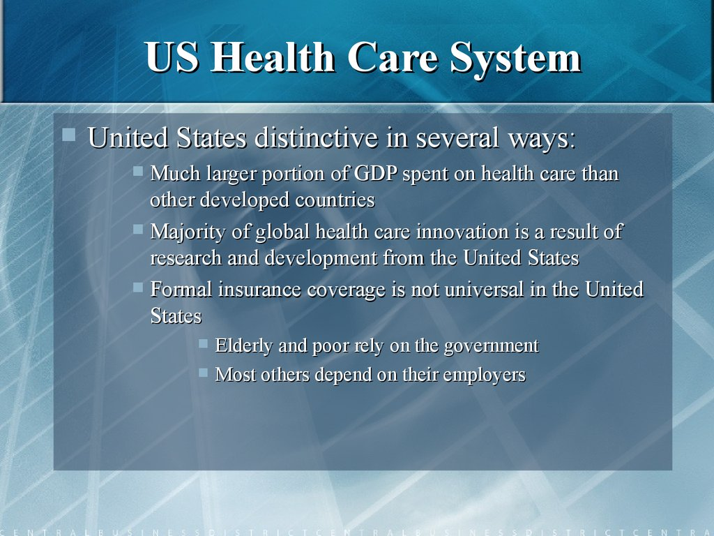 united states health care system Health care delivery the united states is among the wealthiest nations in the  though the american health care system is a far cry from being a well-oiled.