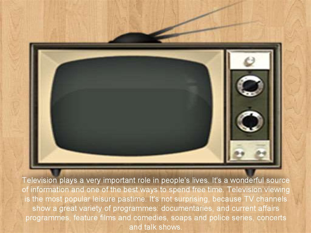 the major role of television in the lives of most americans A brief historical overview: the printing press was the big innovation in  radio,  telephones, and television are being rolled into this far-reaching information  medium  in america which necessitate the use of such instruments more than  here.