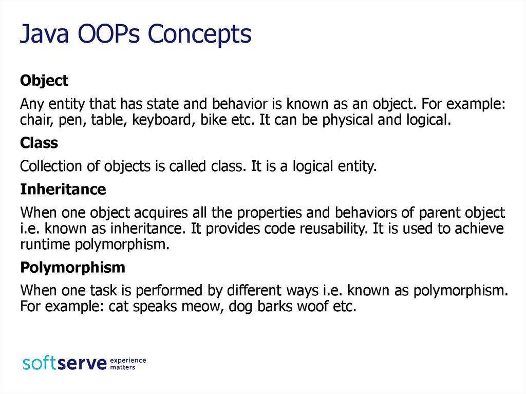 abstraction polymorphism inheritance and encapsulation information technology essay In the last article we discussed oops concepts if you have not yet checked it out,  i would highly recommend you to read it so that you have a basic overview of.