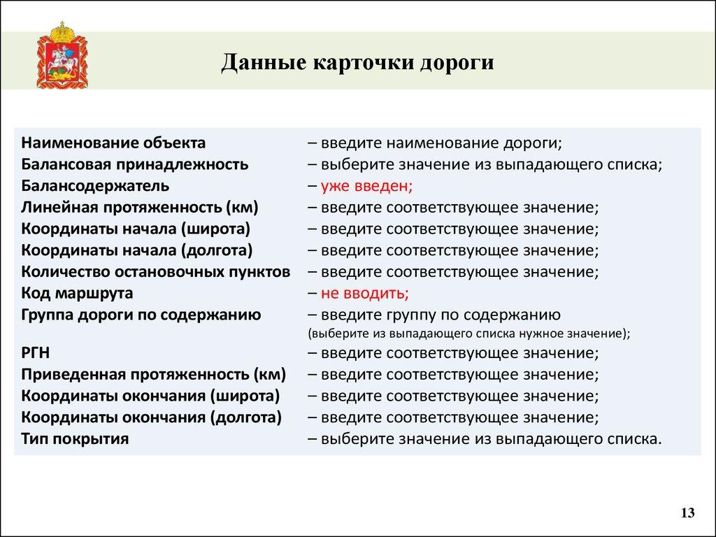 данные для планирования учета и контроля