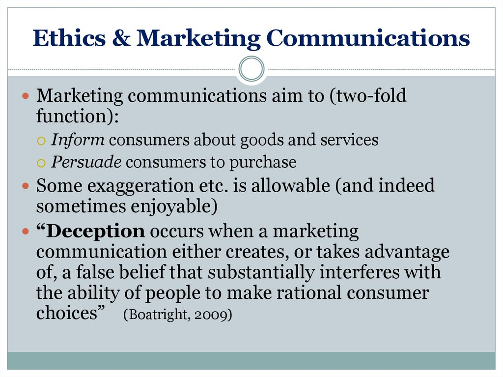 ethics of consumer production and marketing View notes - study guide 6doc ethics from man 3701 at florida a&m study guide 6: the ethics of consumer production and marketing rational utility maximize- a person who has a well- defined and.