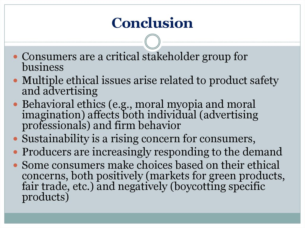 consumers and business ethics