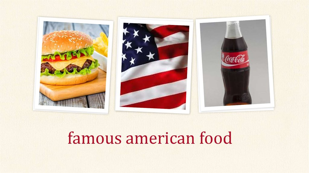 Famous american food for American cuisine presentation
